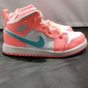 Nike Air Jordan 1 Mid TD Baby Toddler Crimson Puls